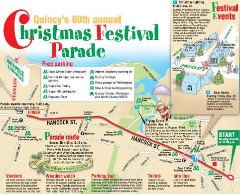 2012 Quincy Christmas Parade map