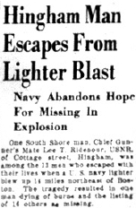 The Patriot Ledger front page, May 12, 1944