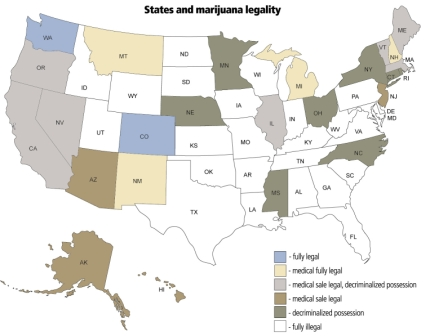 The state of marijuana around the country